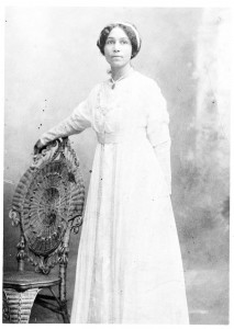 Anne_Bethel_Spencer_in_her_wedding_dress
