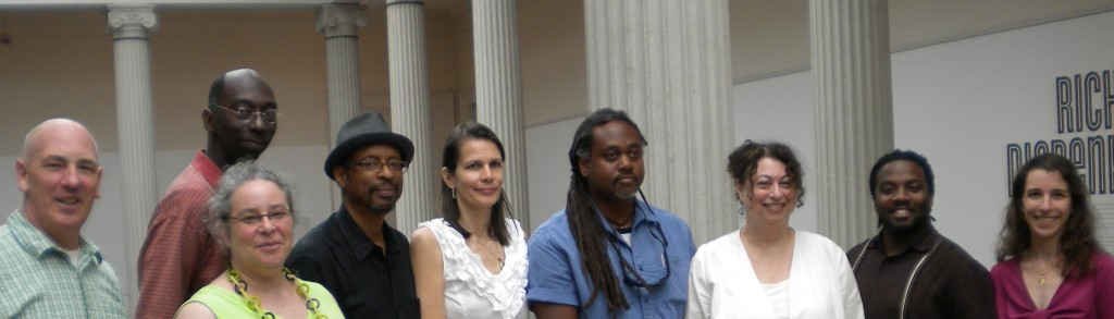 Beltway Poetry reading at the Corcoran Gallery of Art, 2012. l. to r.: stevenallenmay, Brandon D. Johnson, Kim Roberts, E. Ethelbert Miller, Christina Daub, Alan Spears, Elizabeth Poliner, Derrick Weston Brown, Yvette Neisser Moreno.