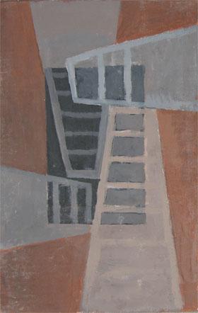 """Kathy Keler, """"Intersect,"""" 2009, acrylic on wood, 9"""" x 6"""""""
