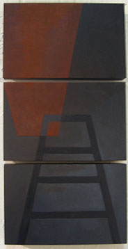"Kathy Keler, ""Ladder II,"" 2009, acrylic and alkyd on wood, 19"" x 9"""
