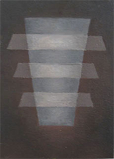 "Kathy Keler, ""Levitate,"" acrylic and alkyd on canvasboard, 7"" x 5"""