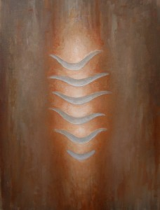"""Kathy Keler, """"Seeing Through,"""" 2008, acrylic and alkyd on canvas,  24"""" x 20"""""""