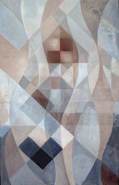"Kathy Keler, ""Heartflow,"" acrylic on cardboard, 2011"