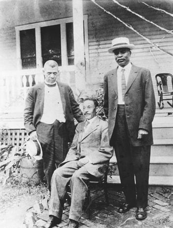 West Virginia Colored Institute, from left to right, Booker T. Washington, school co-founder Byrd Prillerman, and Kelly Miller.