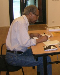 James Emanuel SIgning Books for CUNY students July 2008