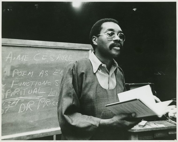 Larry Neal, photo courtesy of Photographs and Prints Division, Schomburg Center for Research in Black Culture, The New York Public Library