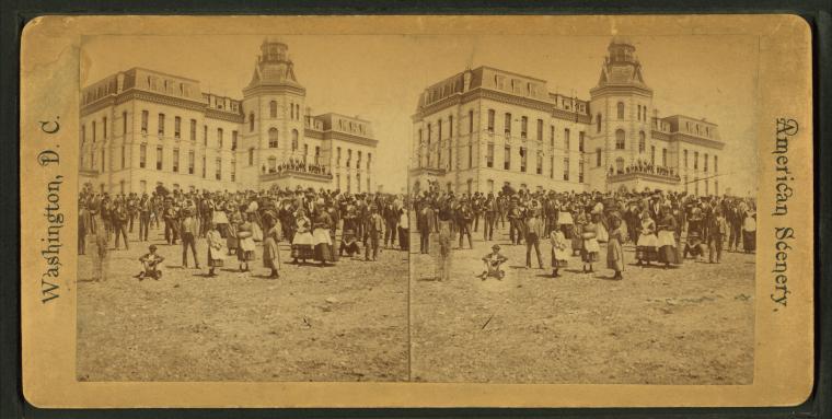 Early stereograph photo of Howard University