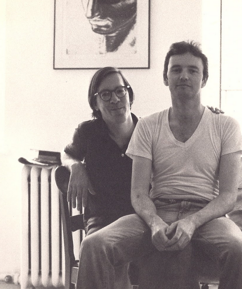 Bruce Andrews and Michael Lally in New York City, c. 1976
