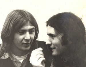 Ed Cox and Michael Lally, c. 1973. Photo by Jesse Winch.