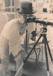 Photo of Ed Zahniser, from the back of his Some Of Us Press book, The Ultimate Double Play, by Reynold Auckenthaler.