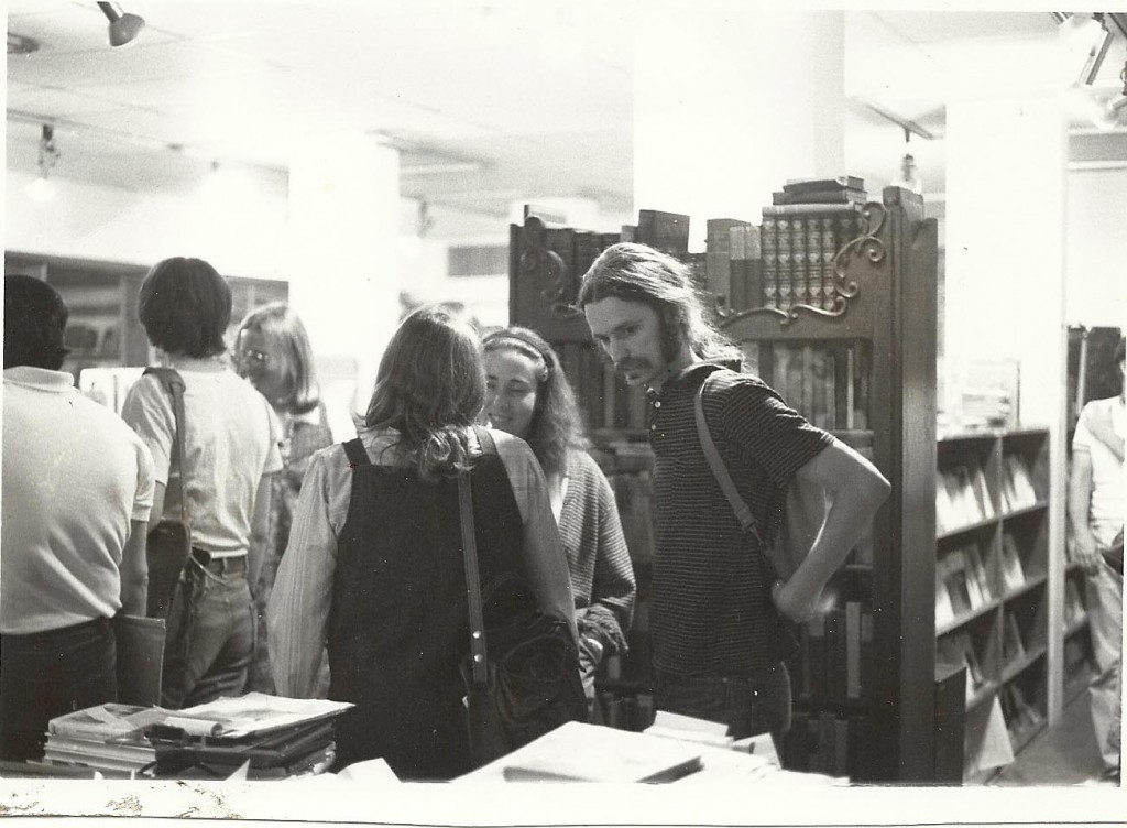 Lynn Dreyer and P. Inman at Folio Books, Washington, DC, 1970s. Photo by Jesse Winch.