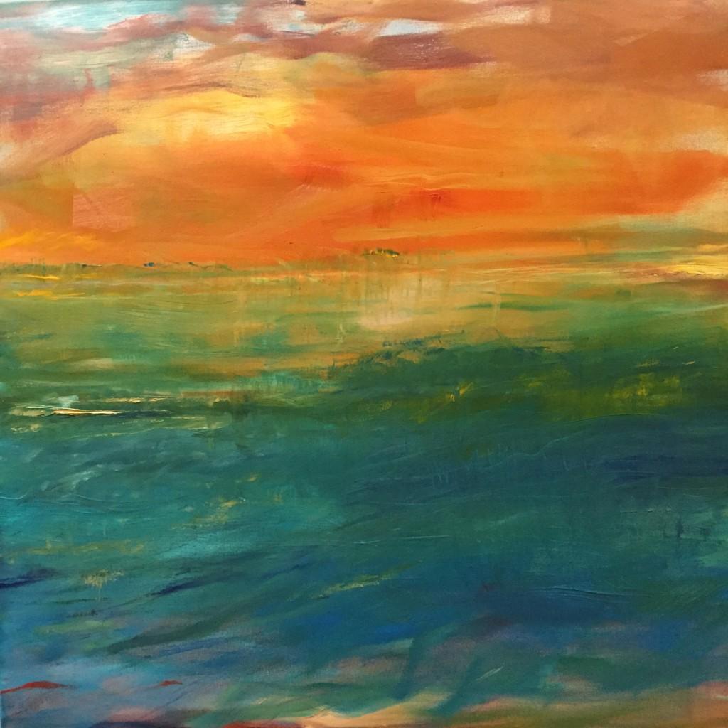 "Kathy Karlson, ""Bombay Hook,"" acrylic on canvas, 2015."
