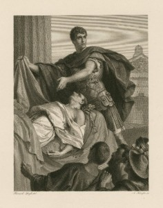 Anthony and Caesar's Body, print by Alfred Krausse, undated. Courtesy of the Folger Shakespeare Library.