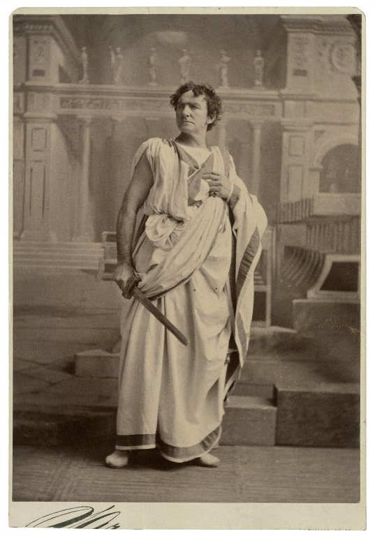 Edward Loomis Davenport at Brutus, 1875. Photo courtesy of the Folger Shakespeare Library.