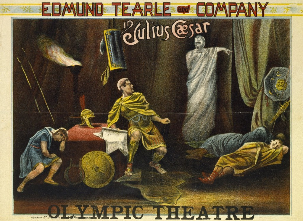 Promotional poster from 1892. Courtesy of the Folger Shakespeare Library.