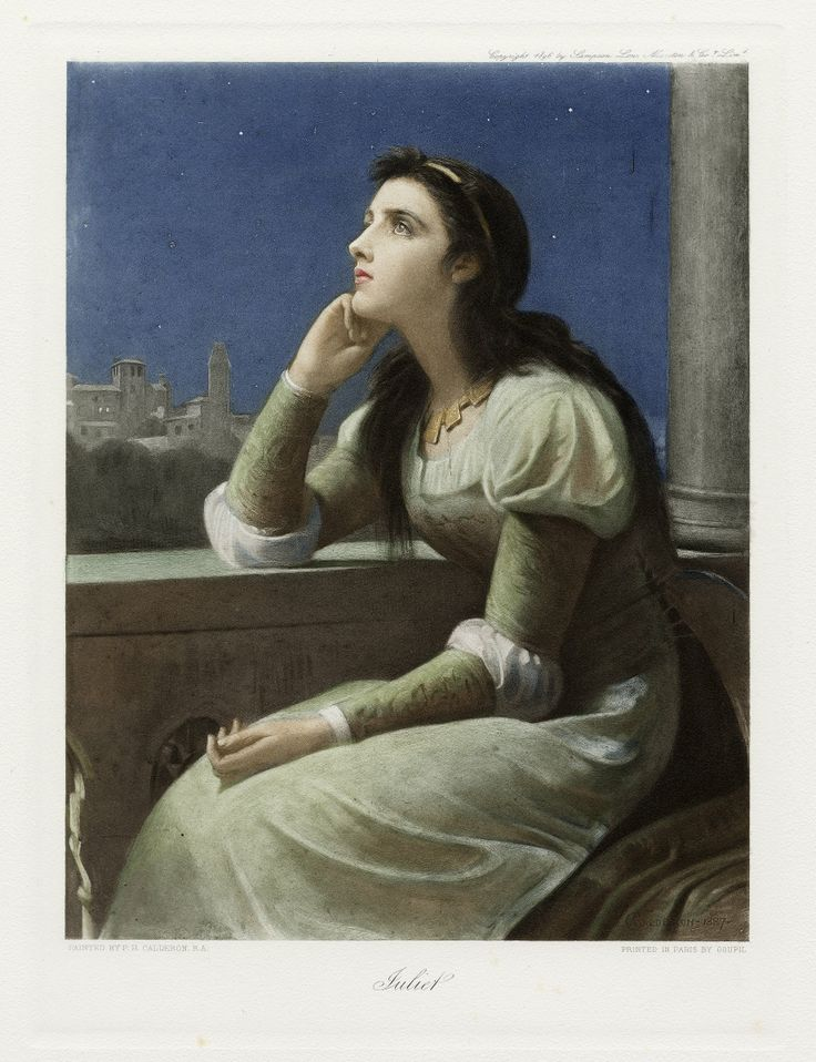Juliet, color print by P.H. Calderon, 1896. Courtesy of the Folger Shakespeare Library.