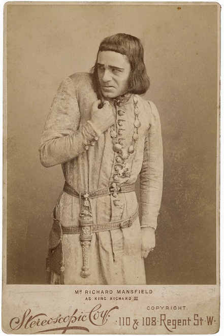 Richard Mansfield as King Richard, c. 1889 (Folger Shakespeare Library)