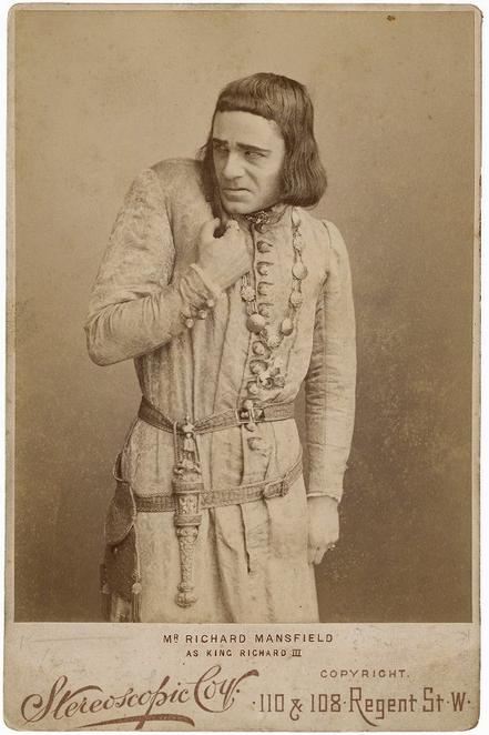 Richard Mansfield as King Richard, c. 1889 (Folger Shakespeare Library)
